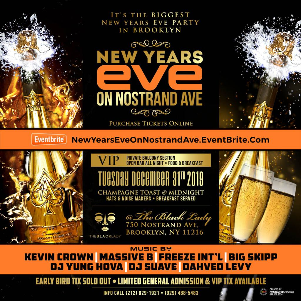 New Year's Eve On Nostrand Ave flyer or graphic.