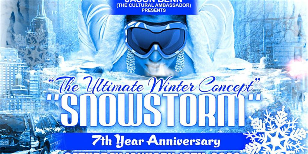 Snowstorm flyer or graphic.