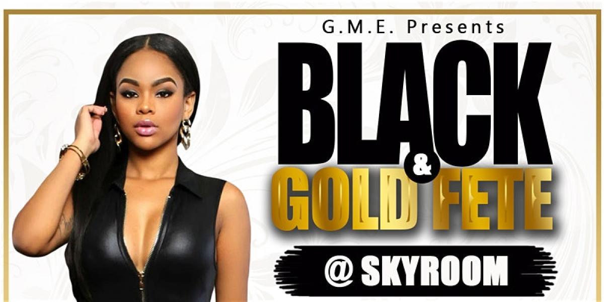 Black & Gold Fete flyer or graphic.