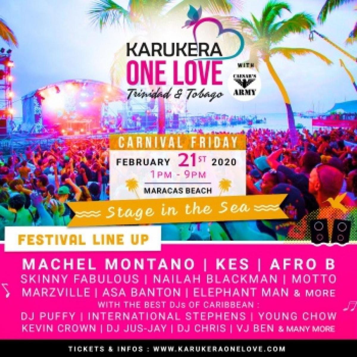 Karukera One Love Festival flyer or graphic.