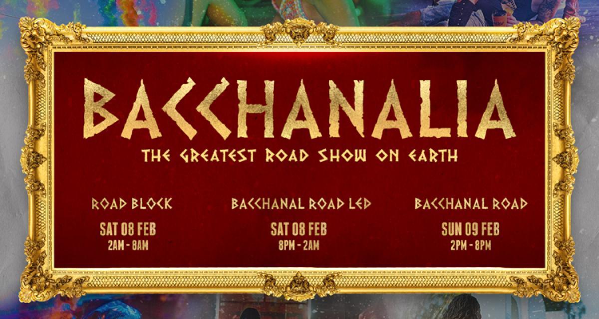 Bacchanalia flyer or graphic.