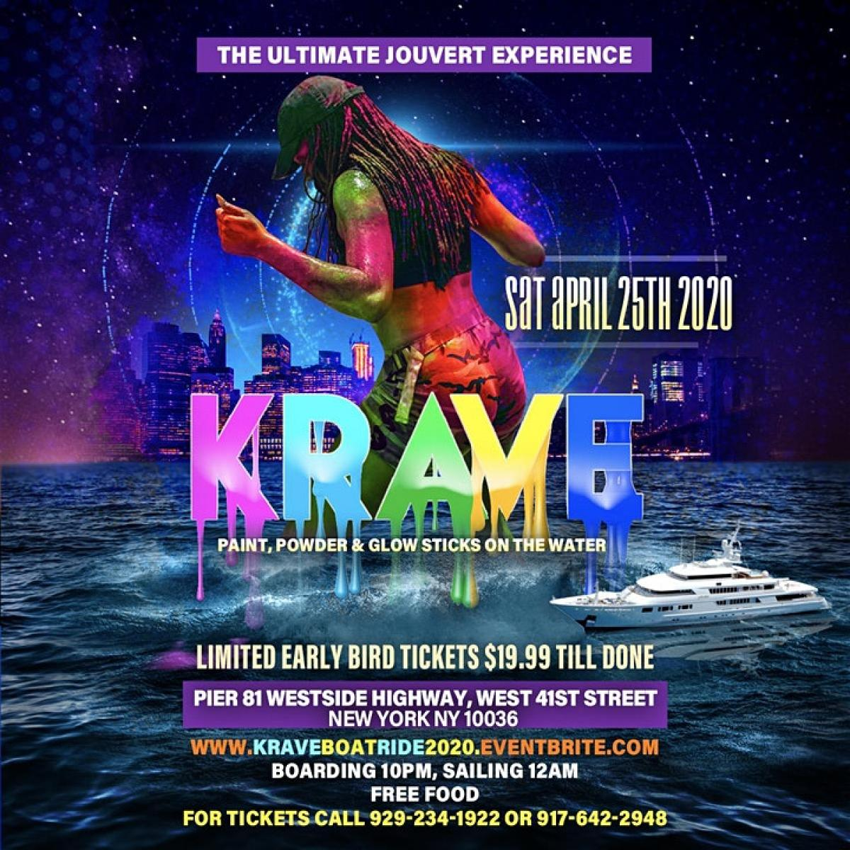 Krave Boat Ride flyer or graphic.