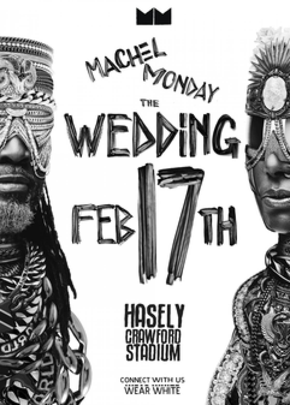 Machel Monday 'The Wedding' flyer or graphic.