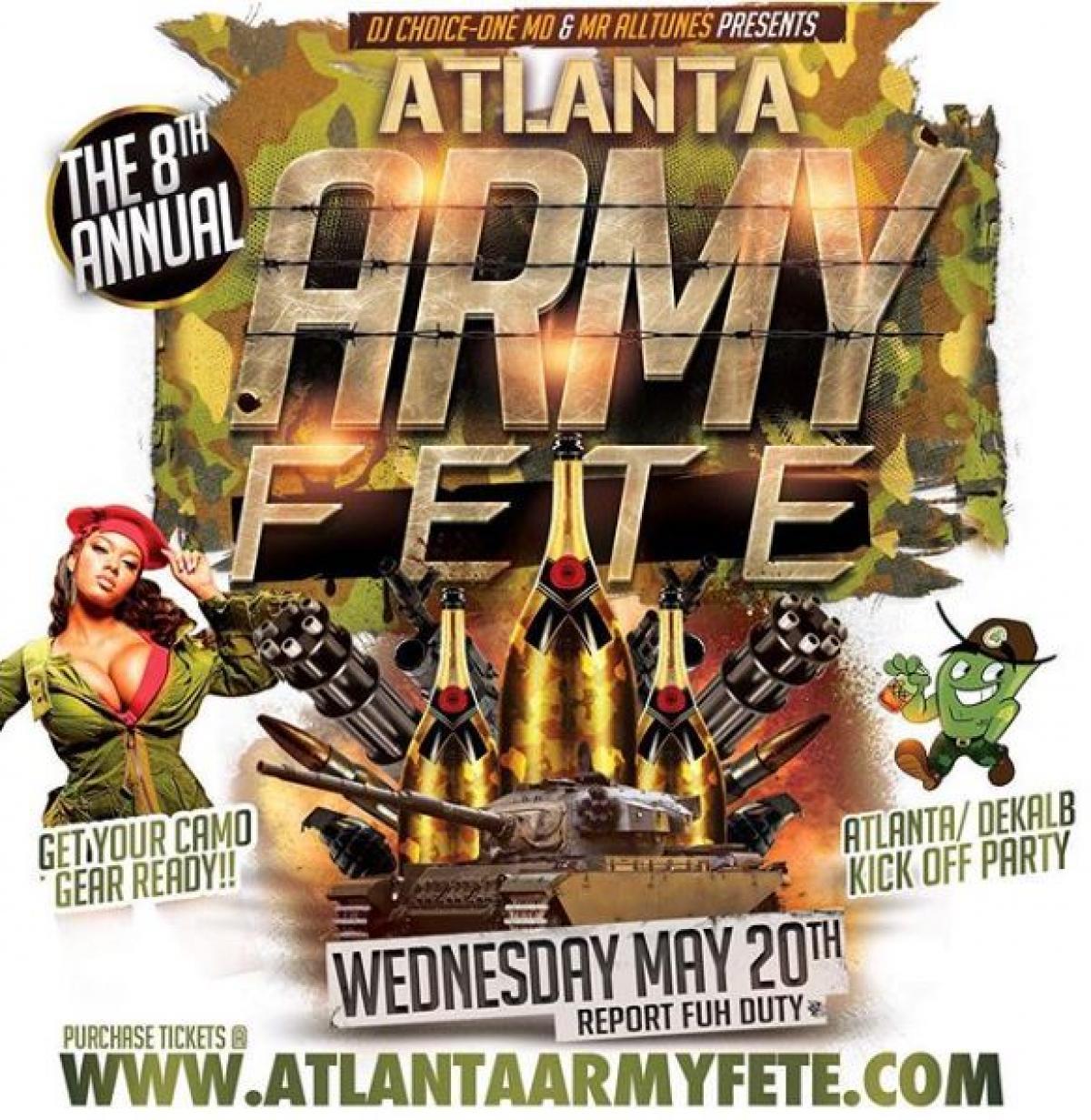 Atlanta Army Fete flyer or graphic.