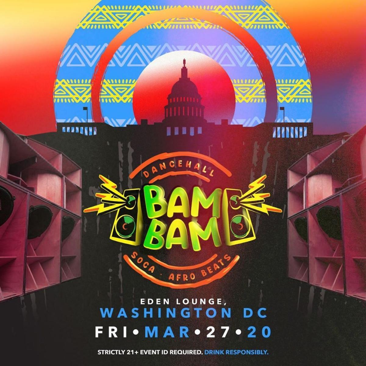 BAM BAM flyer or graphic.