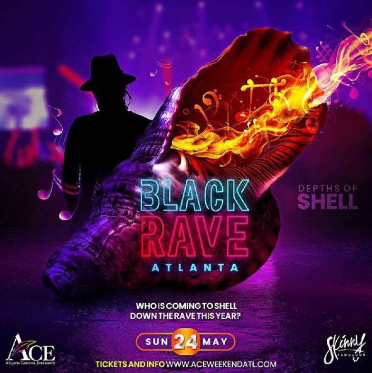 Black Rave ATL flyer or graphic.