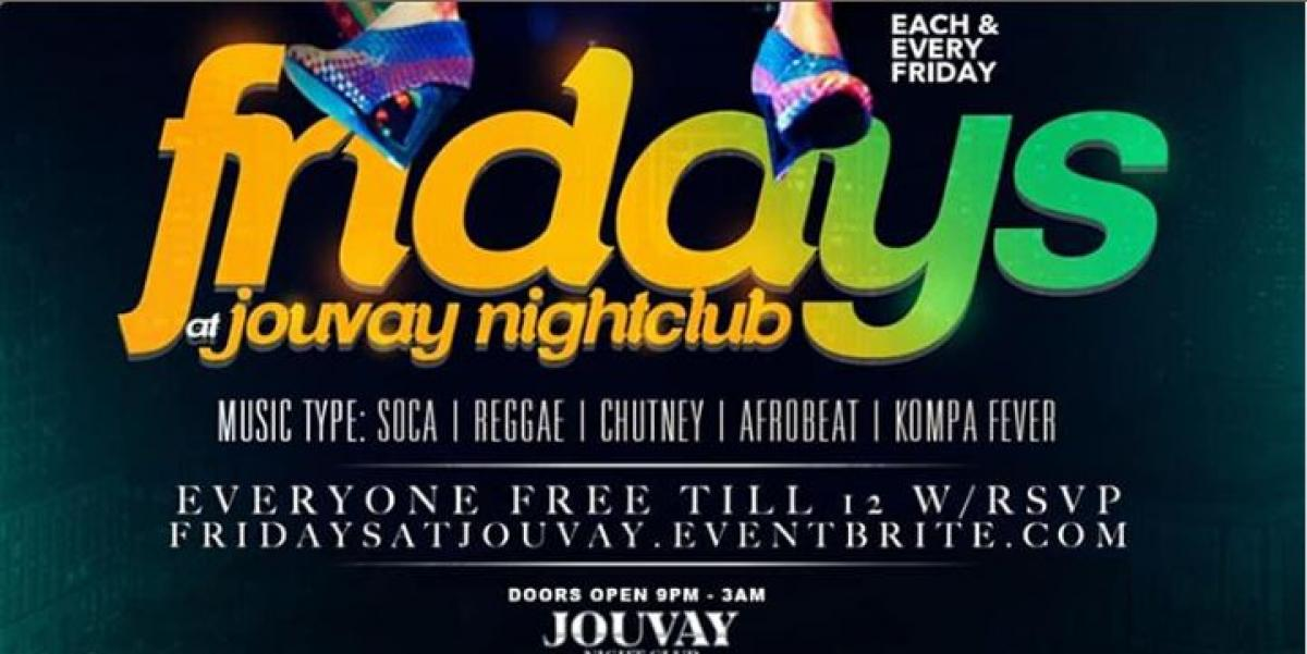 Fridays at Jouvay flyer or graphic.