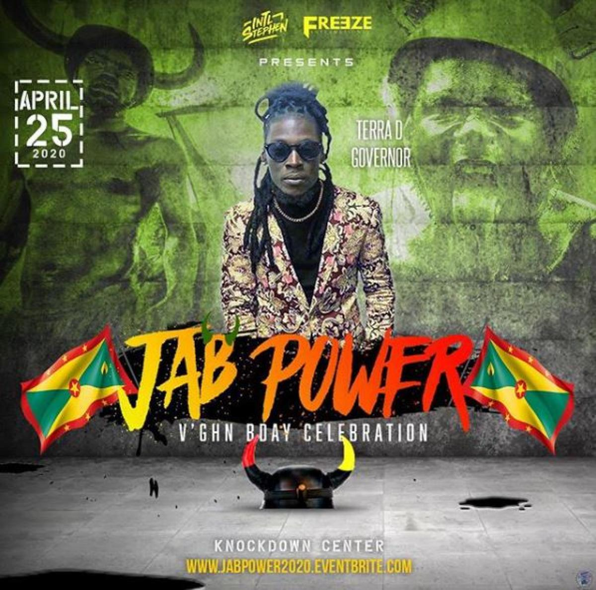 Jab Power flyer or graphic.