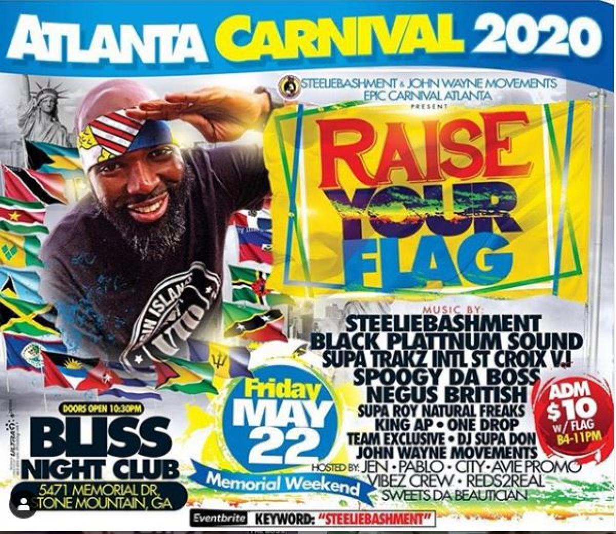 Raise Your Flag flyer or graphic.