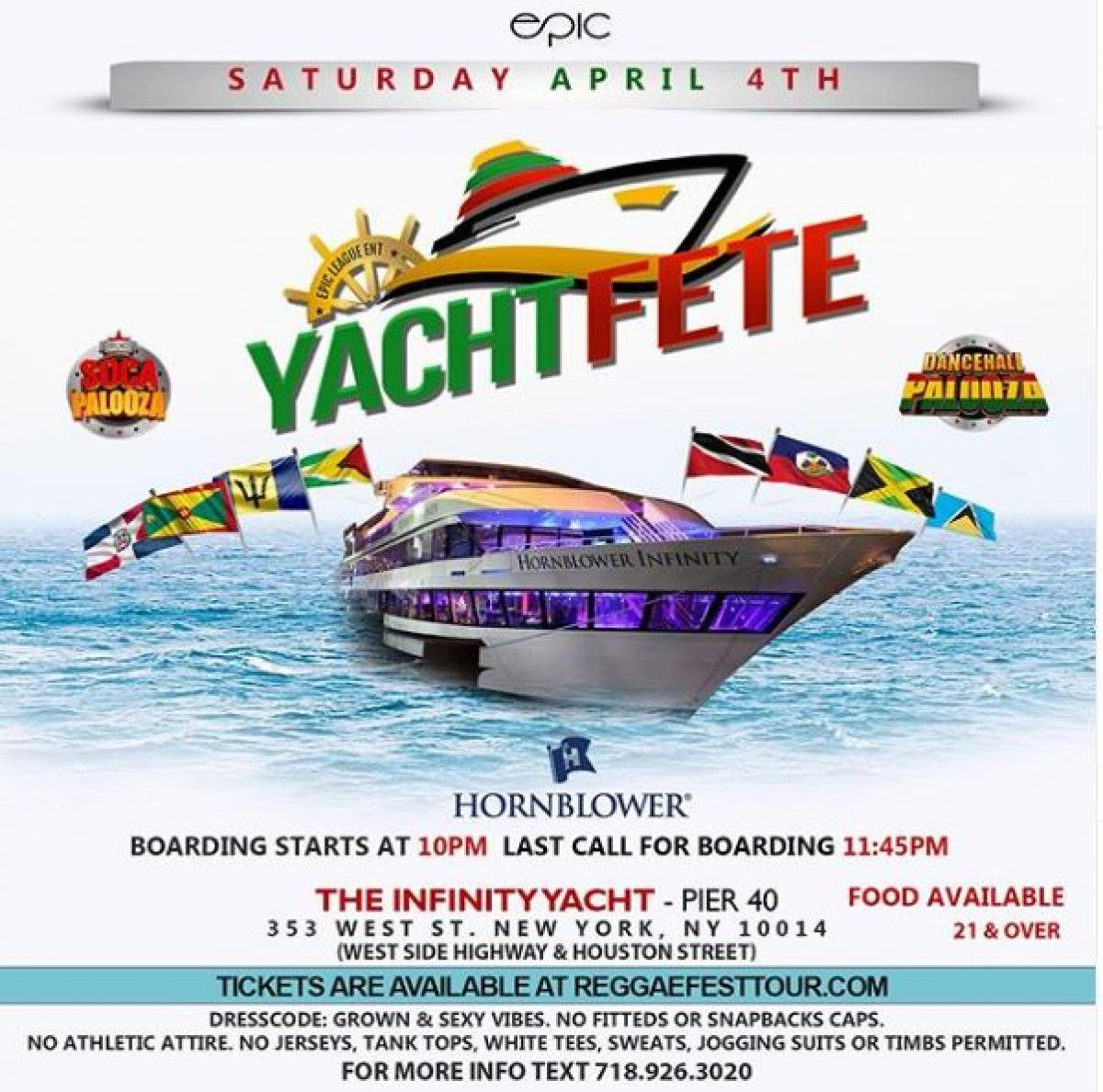 Yacht Fete flyer or graphic.