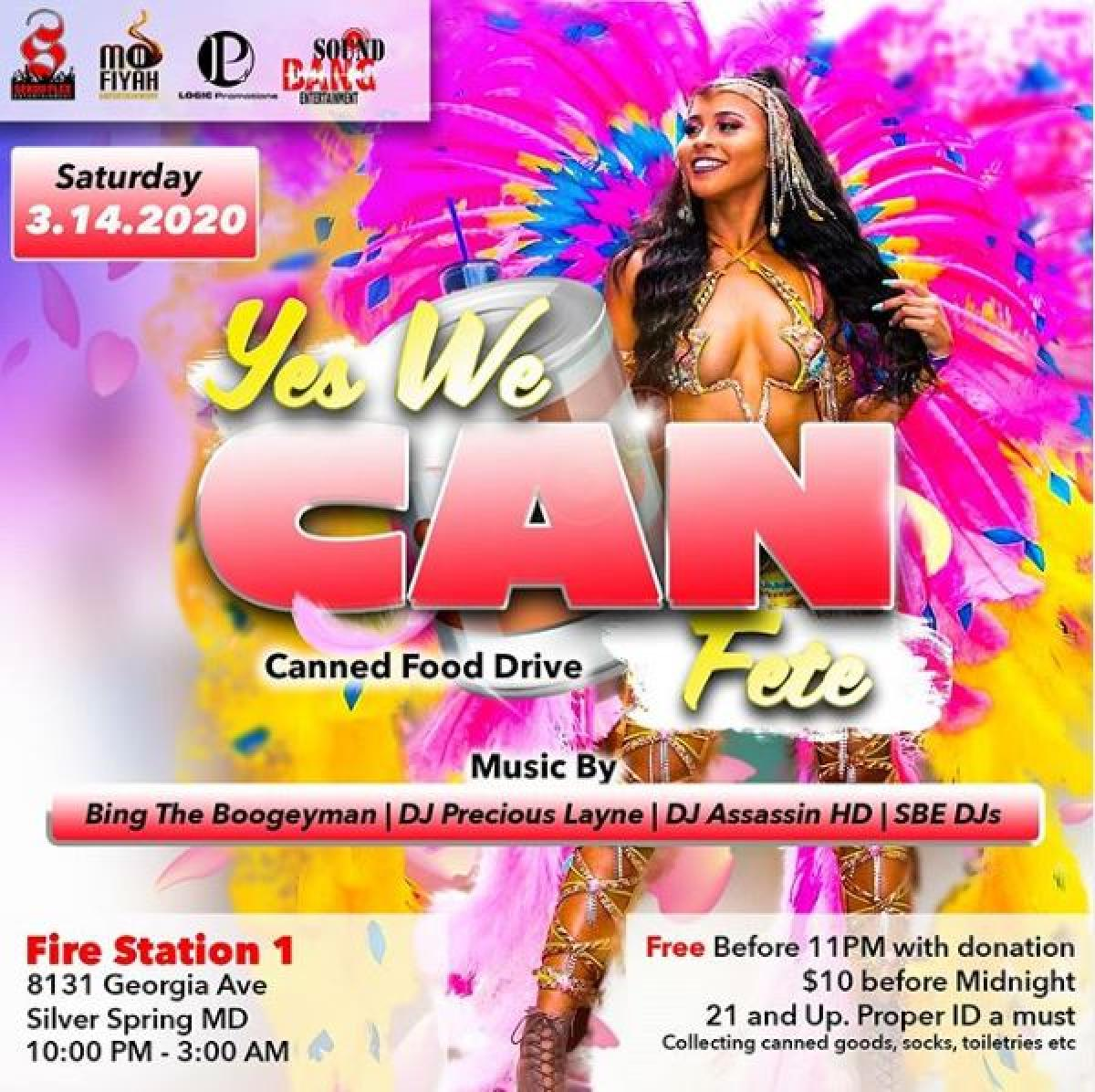 Yes We Can Fete flyer or graphic.