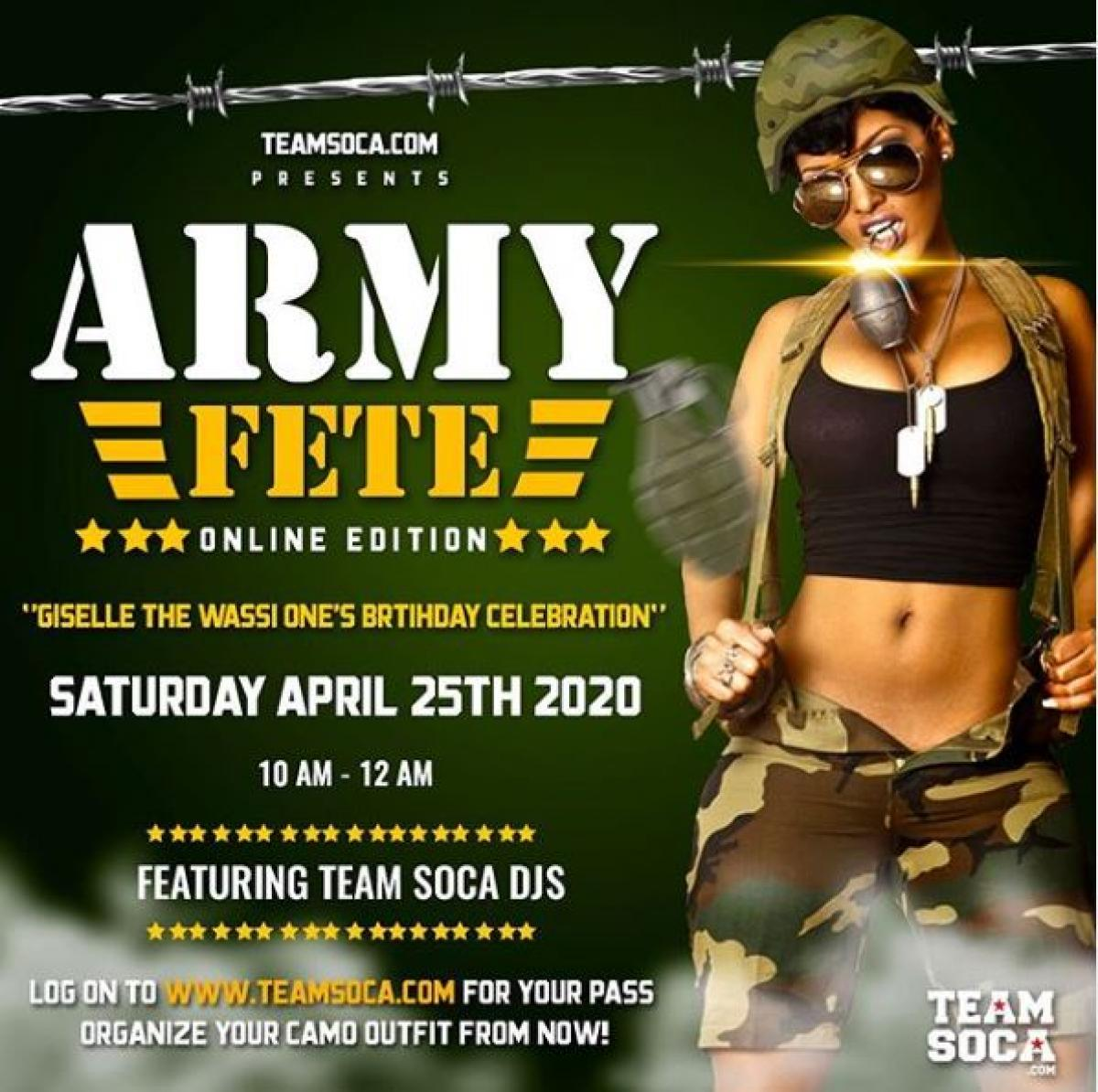 Army Fete Online Edition flyer or graphic.