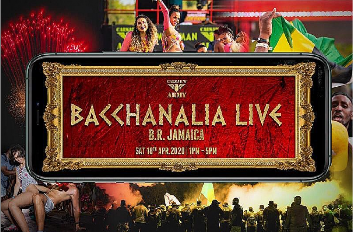 Bacchanalia Live flyer or graphic.
