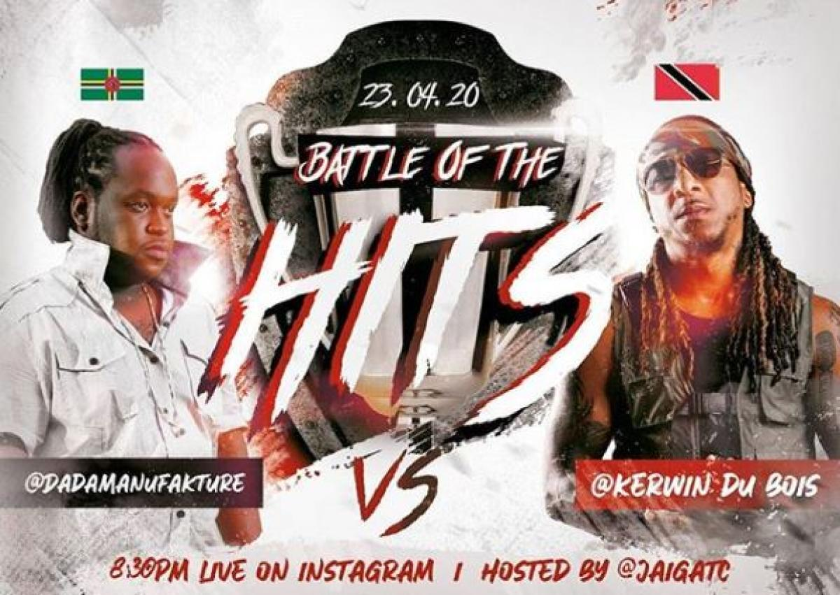 Battle of the Hits flyer or graphic.