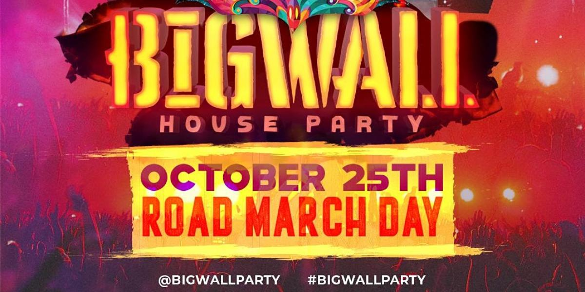 Big Wall House Party  flyer or graphic.