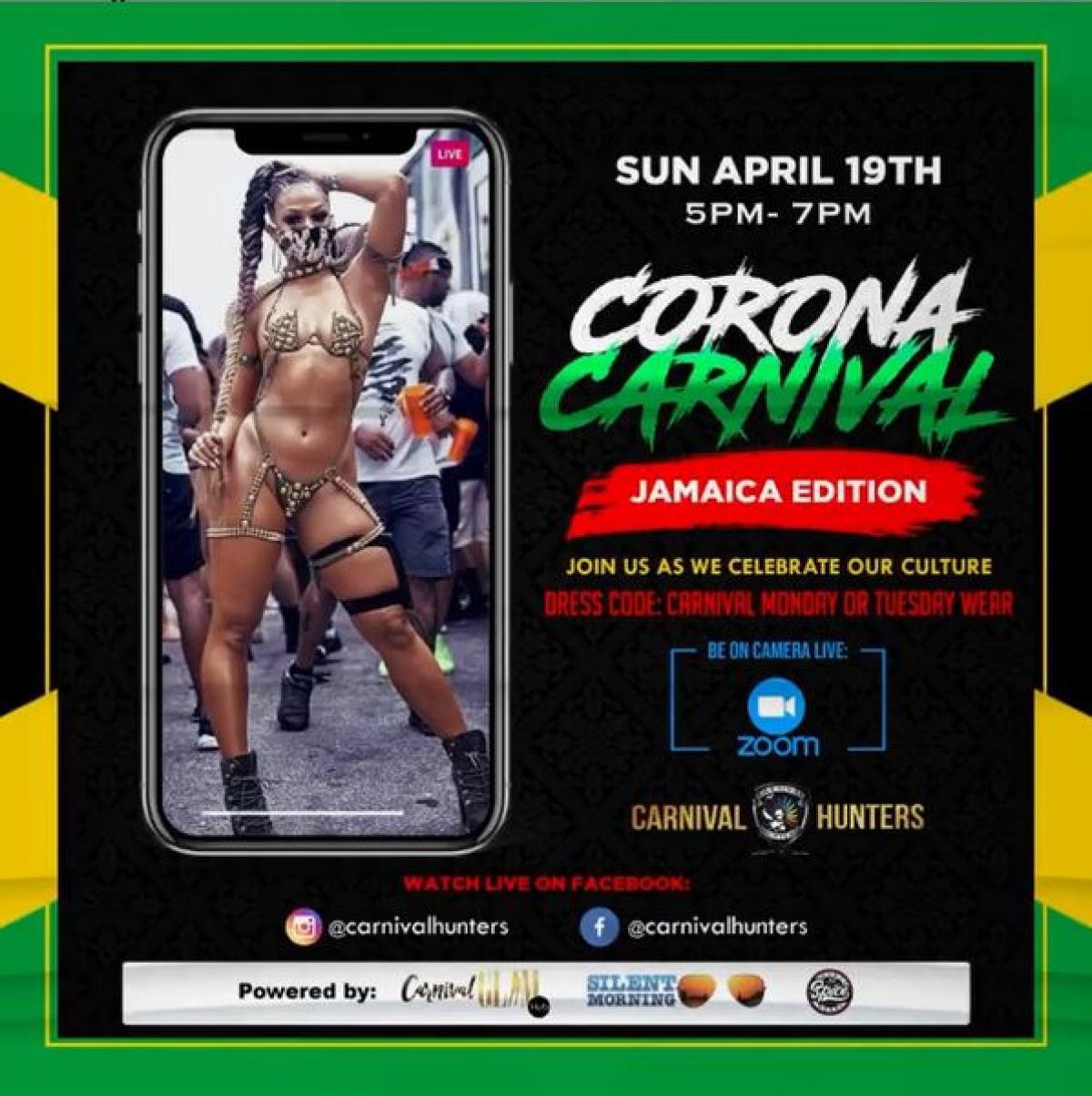 Corona Carnival Jamaica Edition flyer or graphic.