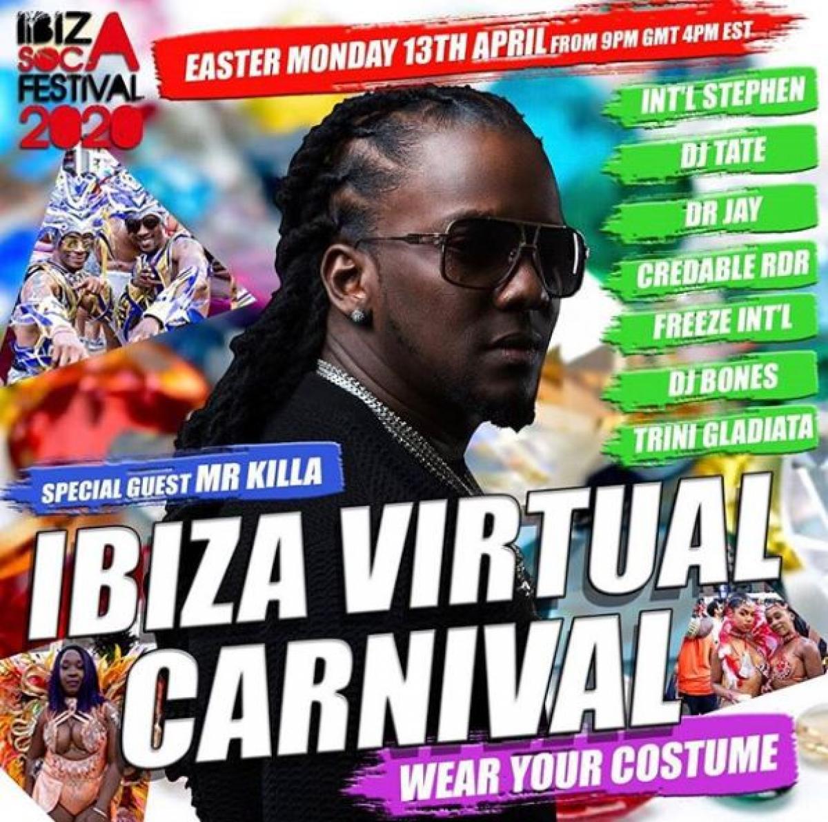 Ibiza Virtual Carnival flyer or graphic.