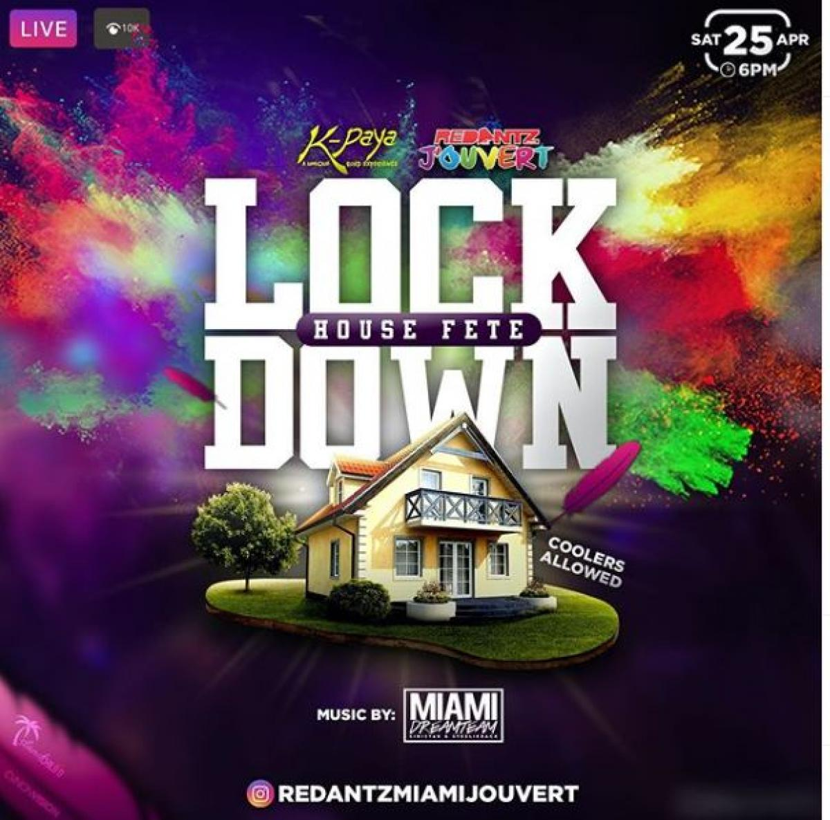 Lockdown House Fete flyer or graphic.