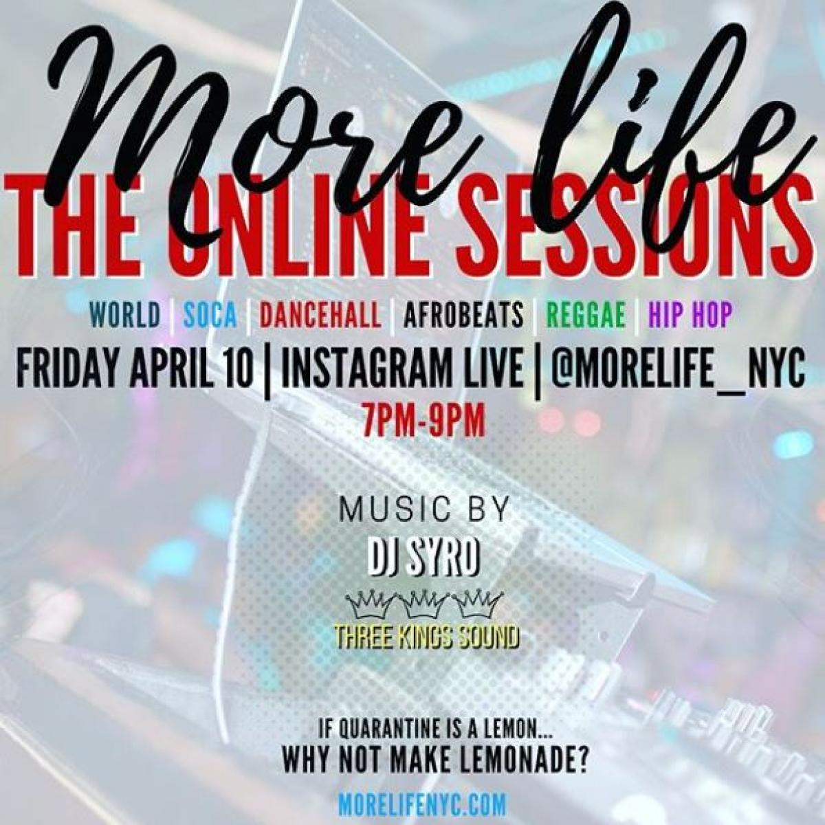 The Online Sessions flyer or graphic.