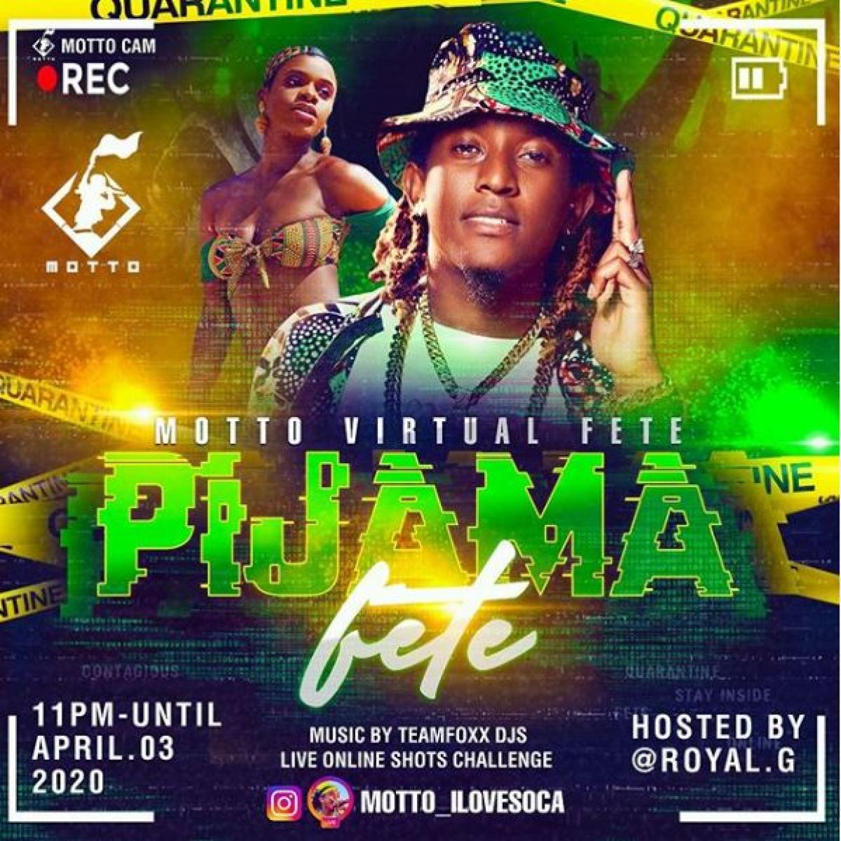 Pijama Fete flyer or graphic.