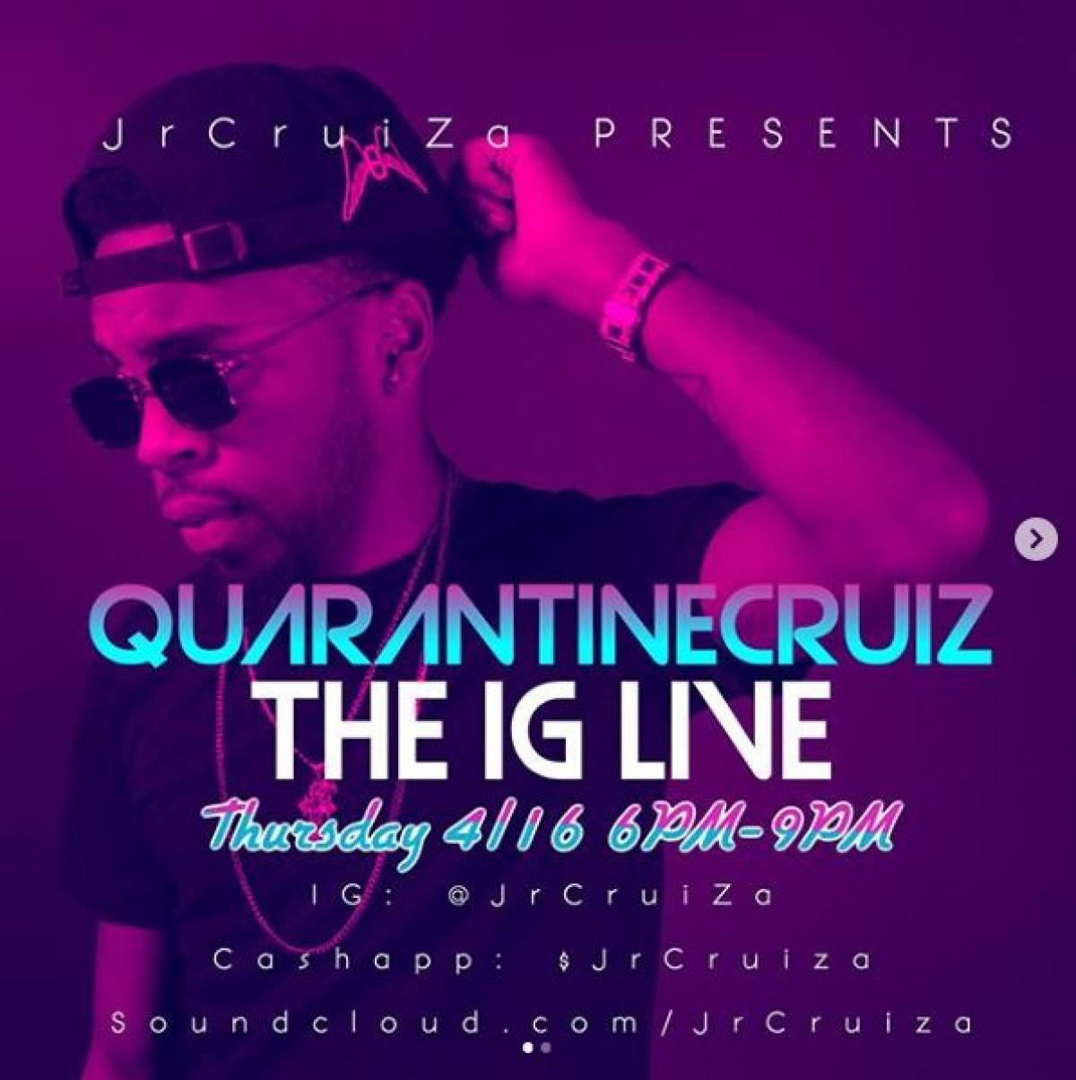 Quarantine CruiZ flyer or graphic.