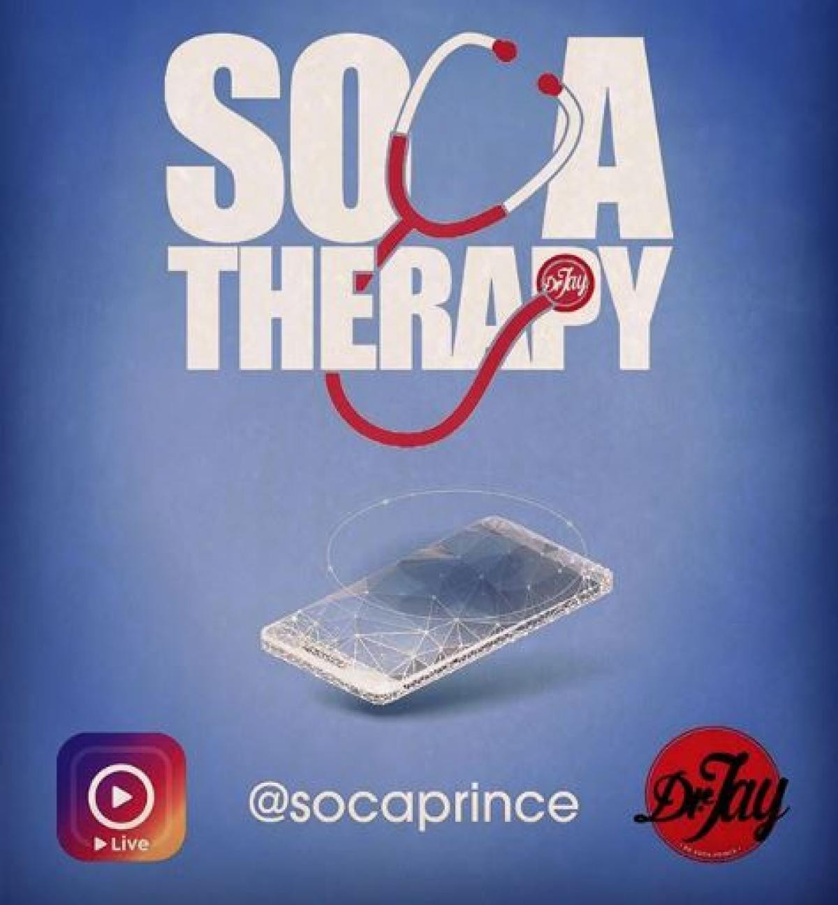 Soca Therapy flyer or graphic.