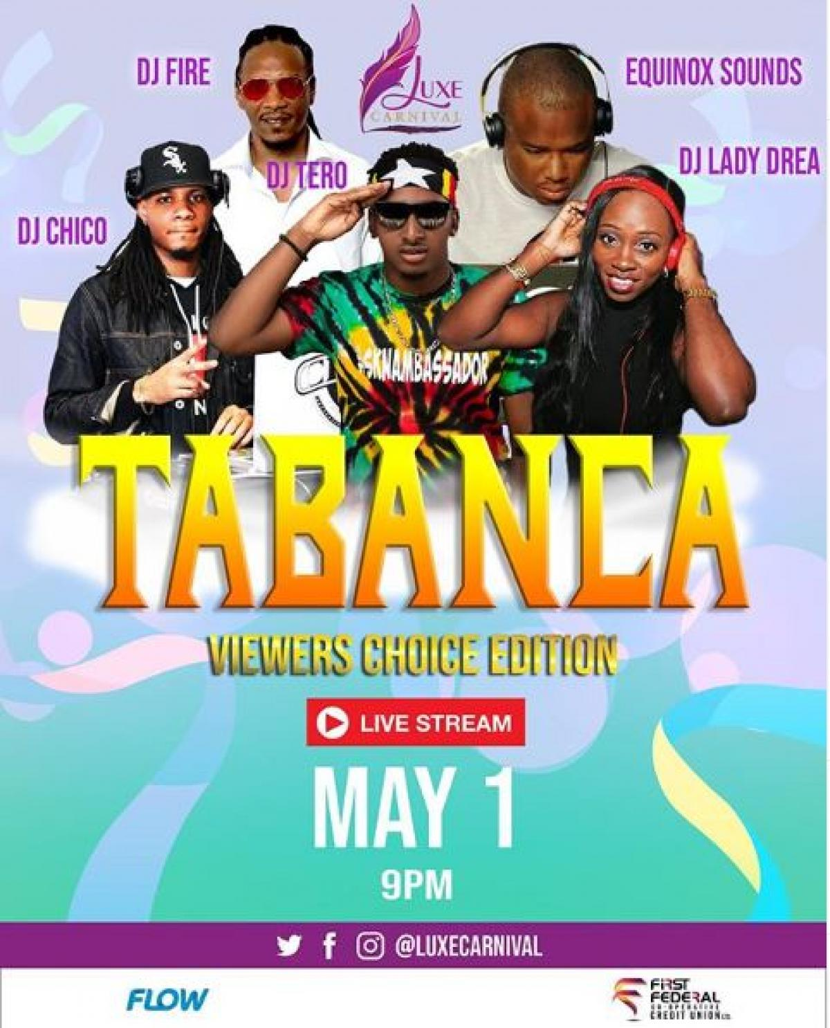 Tabanca flyer or graphic.
