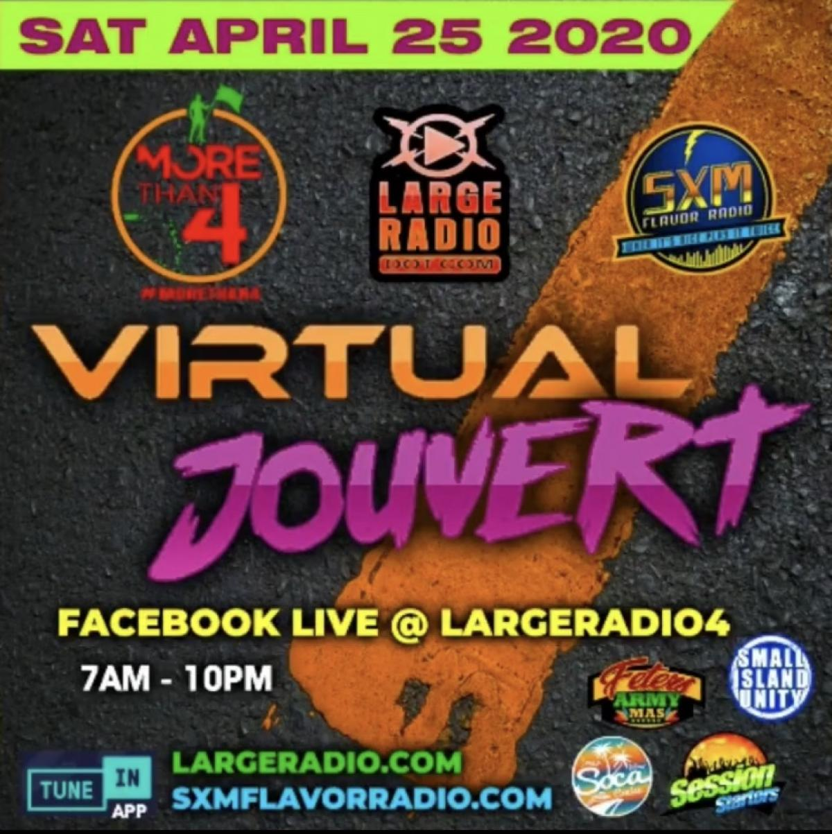Virtual Jouvert flyer or graphic.