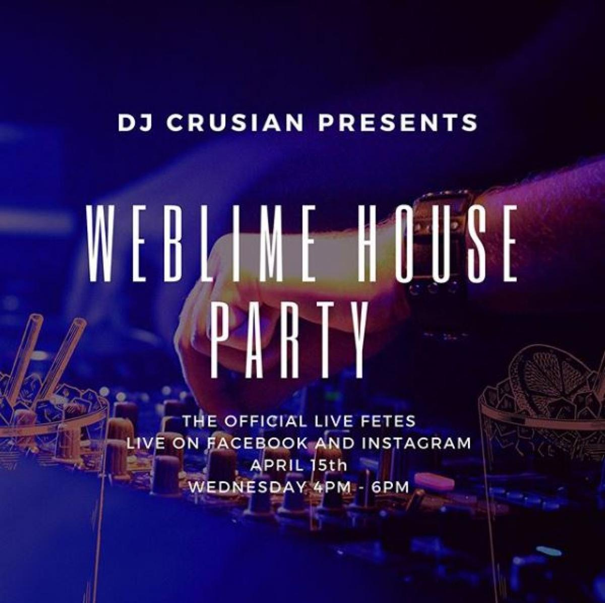 Web Lime House Party flyer or graphic.