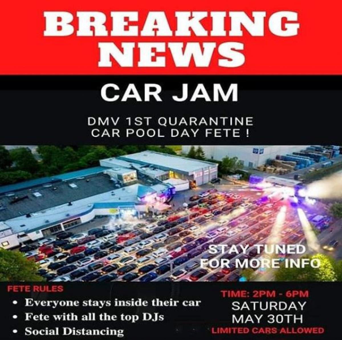 Car Jam flyer or graphic.