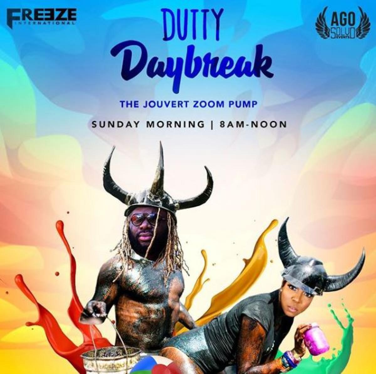 Dutty Daybreak flyer or graphic.