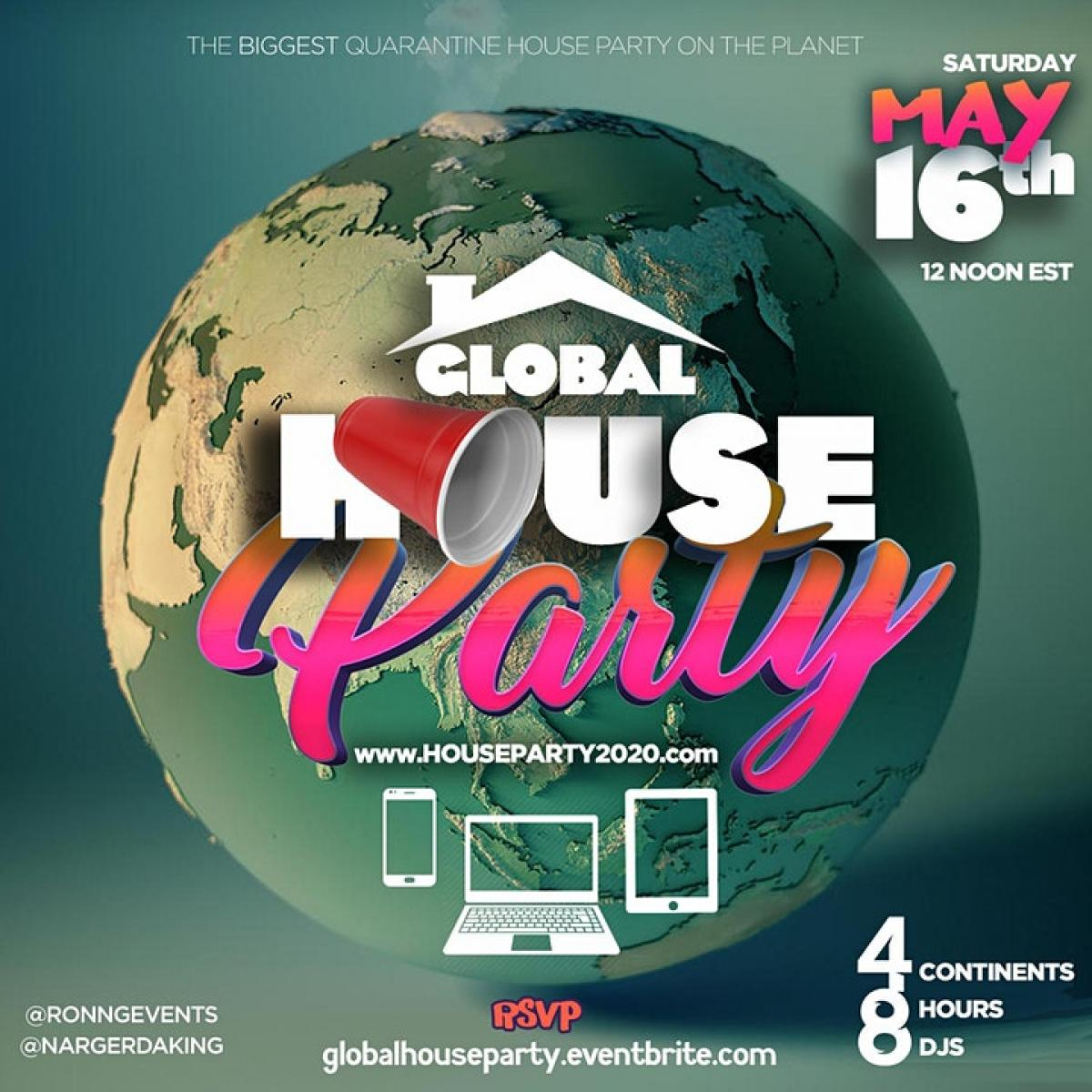 Global House Party flyer or graphic.