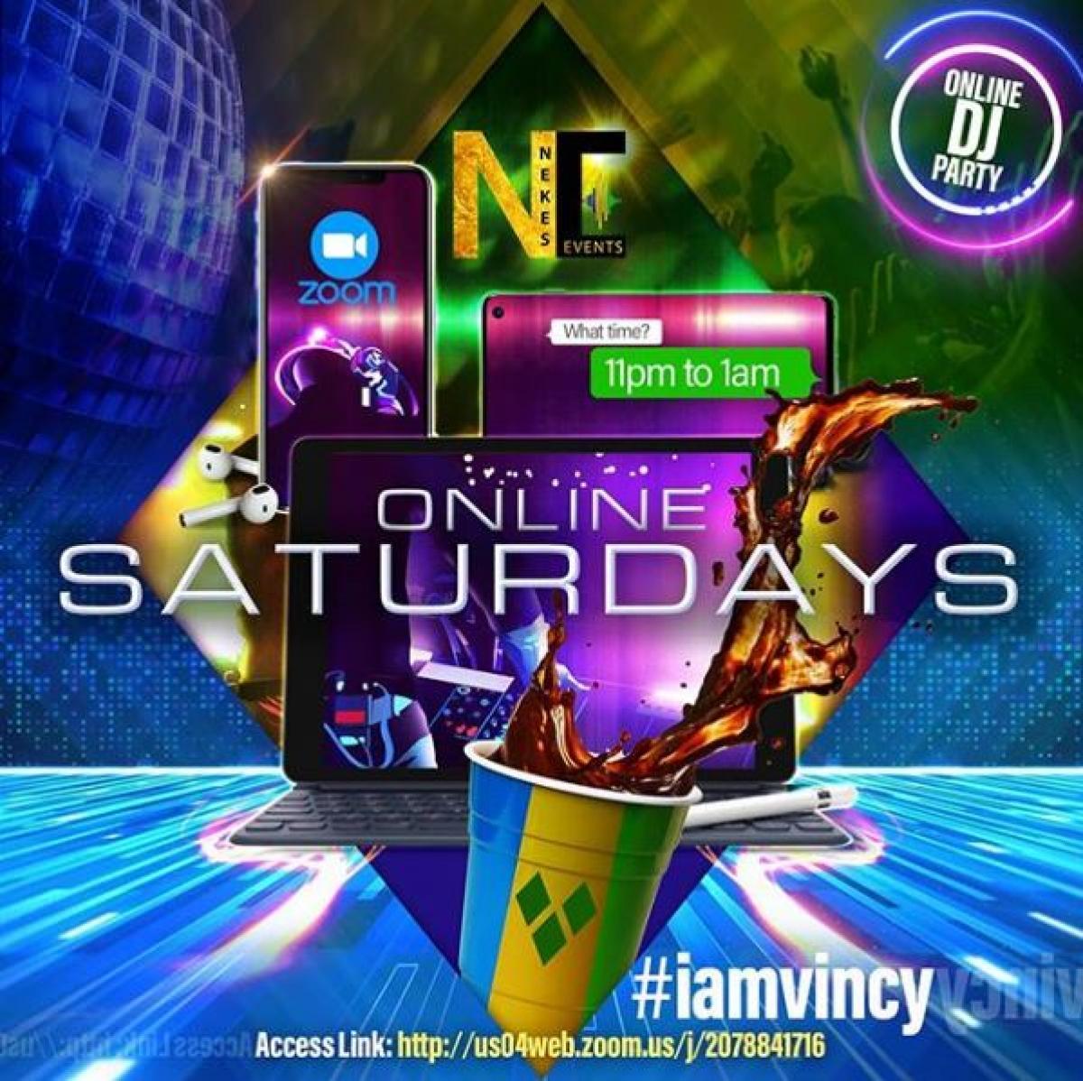 Online Saturdays flyer or graphic.