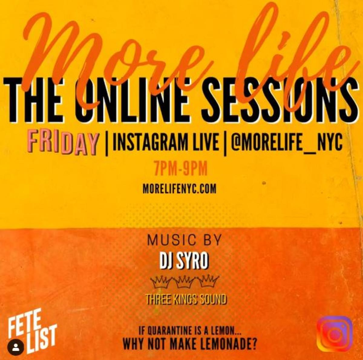 The Online Session flyer or graphic.