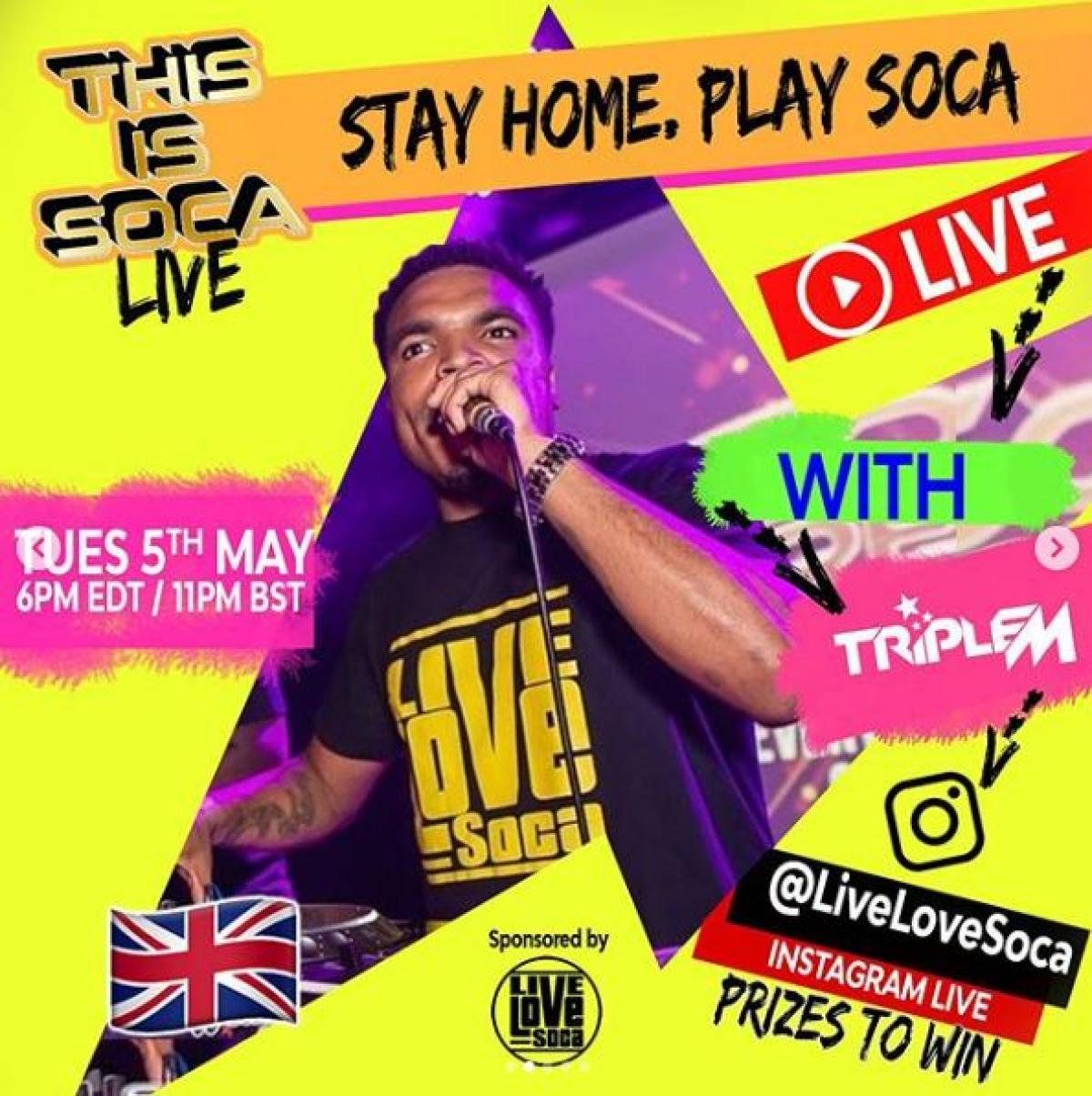 This Is Soca Live flyer or graphic.