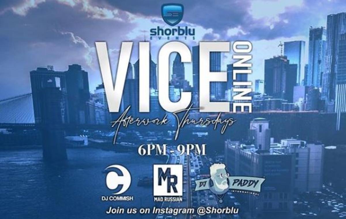Vice Online Afterwork Thrusdays flyer or graphic.