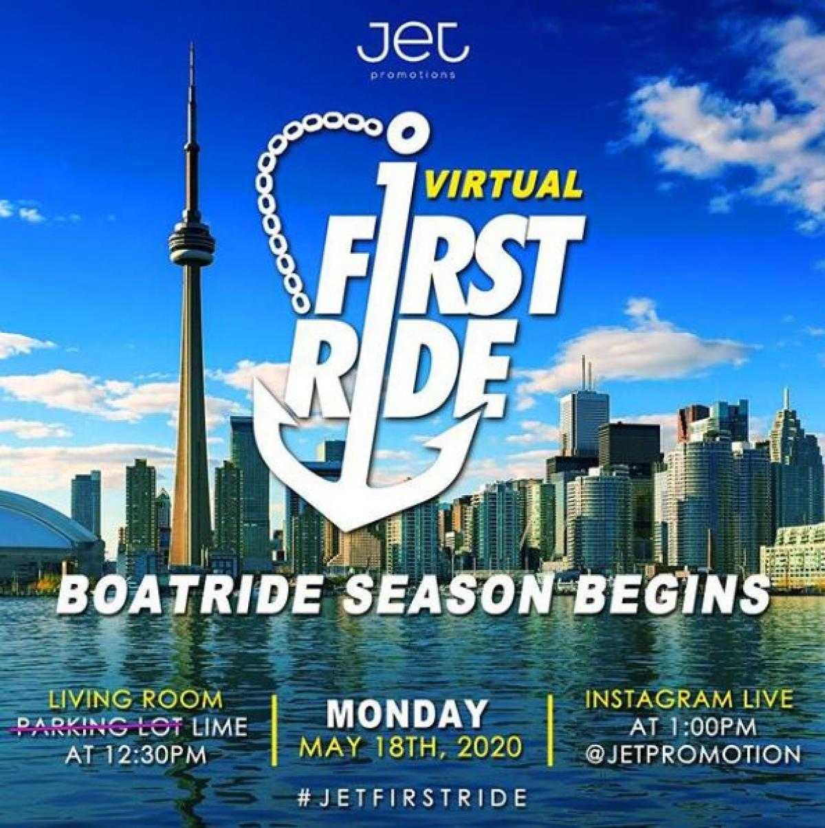 Virtual First Ride flyer or graphic.