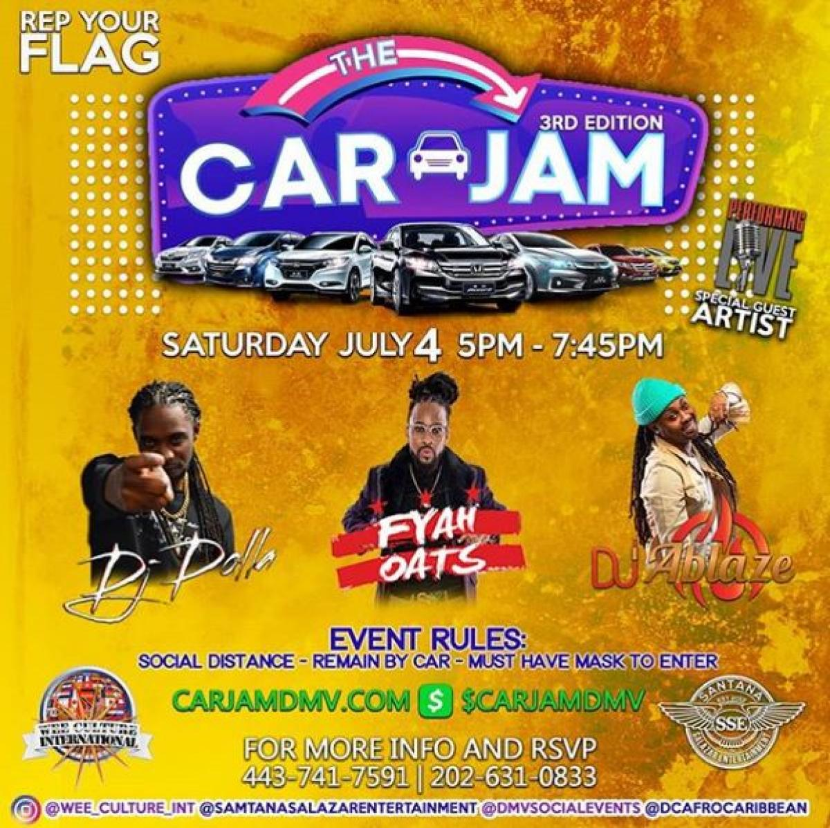 3rd Edition Car Jam  flyer or graphic.