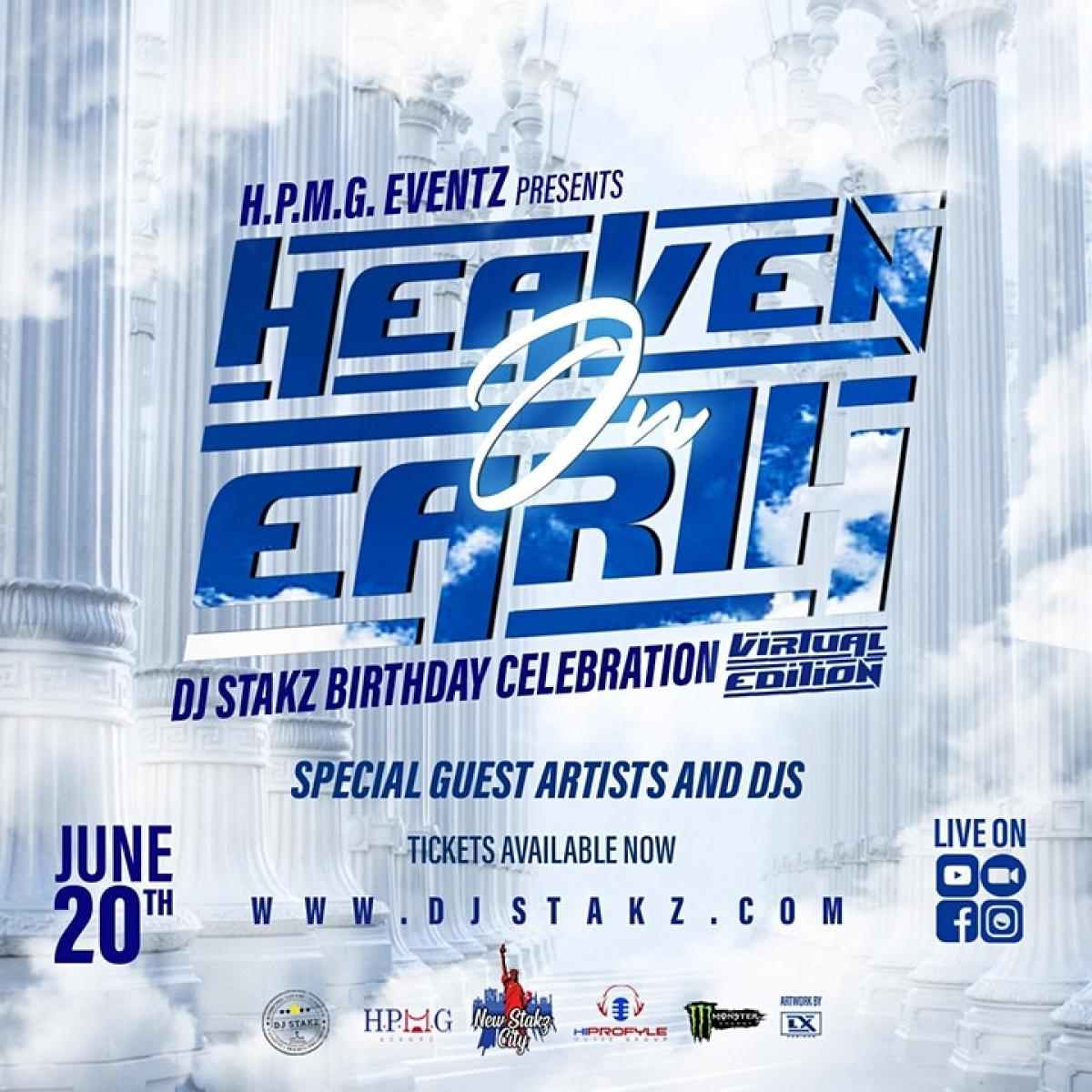 Heaven On Earth flyer or graphic.
