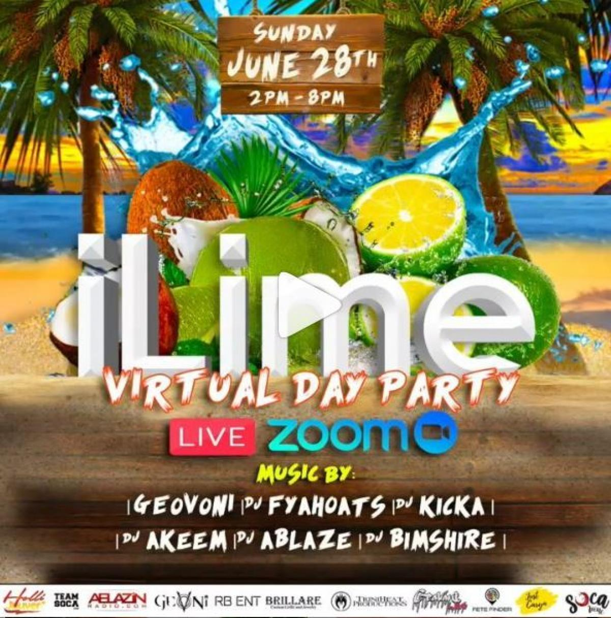 ILime Virtual Day Party flyer or graphic.
