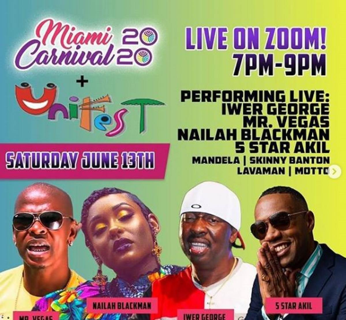 Miami Carnival Unifest flyer or graphic.