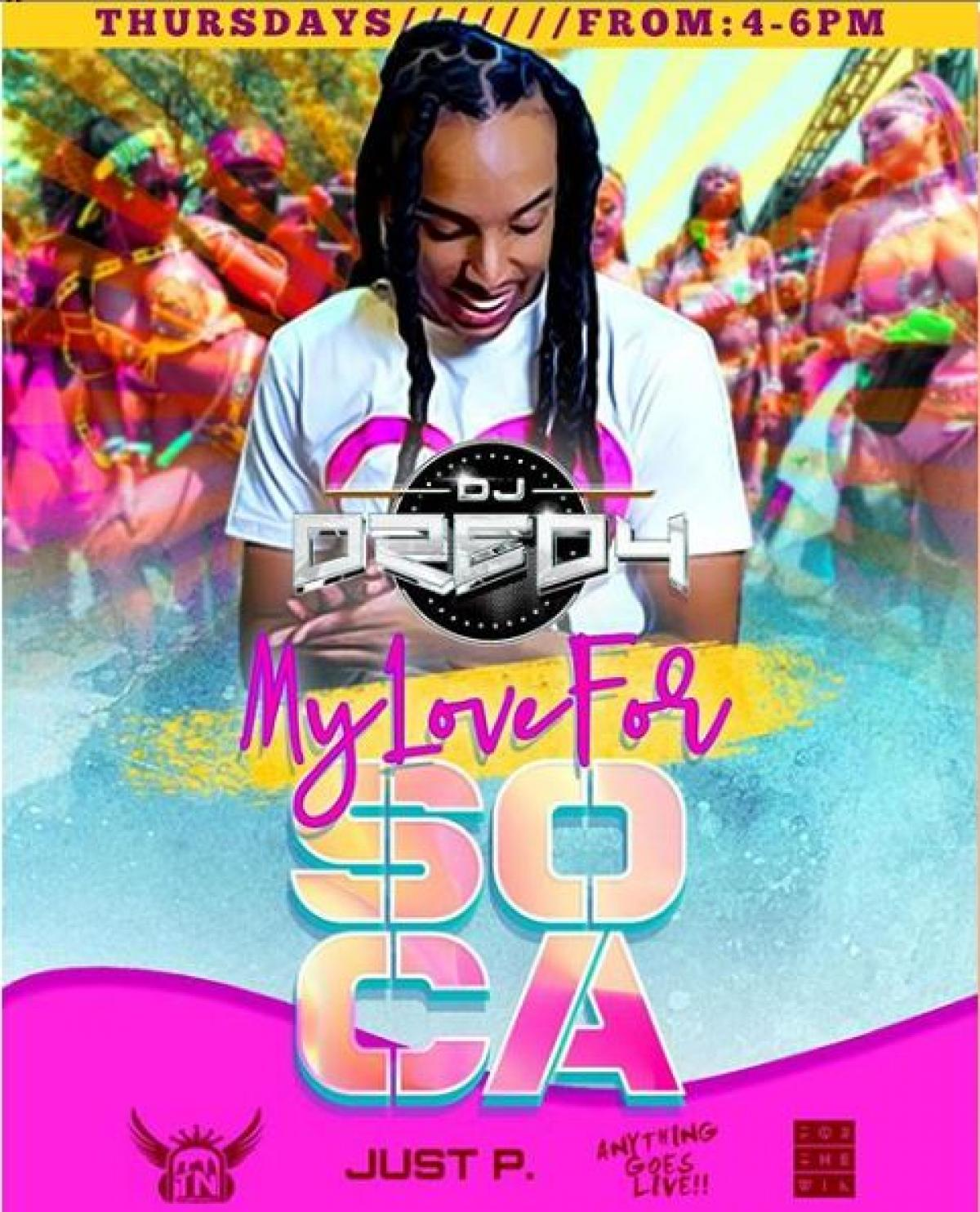 My Love For Soca flyer or graphic.