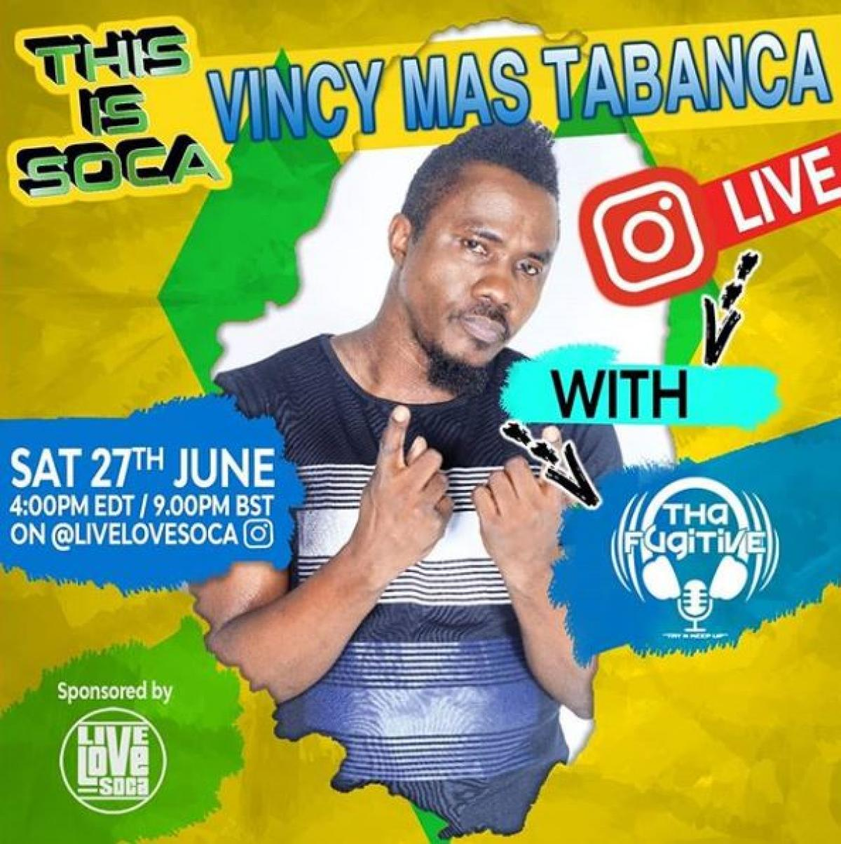 This Is Soca Vincy Mas Tabanca flyer or graphic.