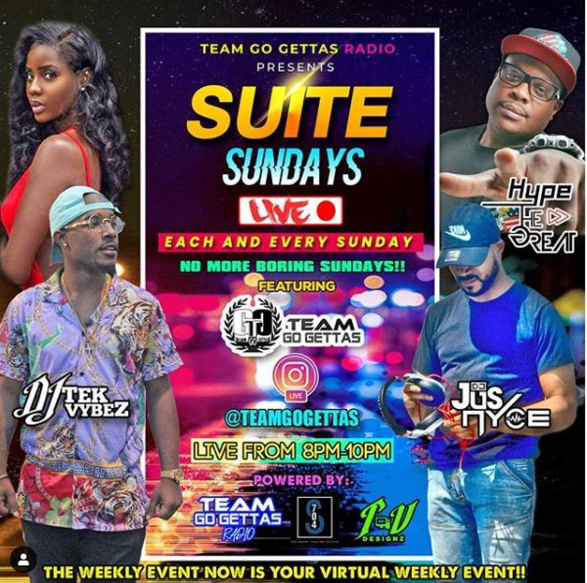 Suite Sundays flyer or graphic.
