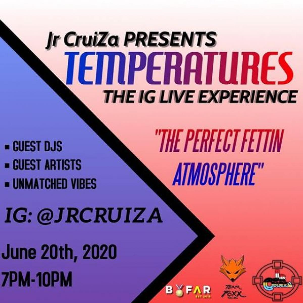 Temperatures flyer or graphic.