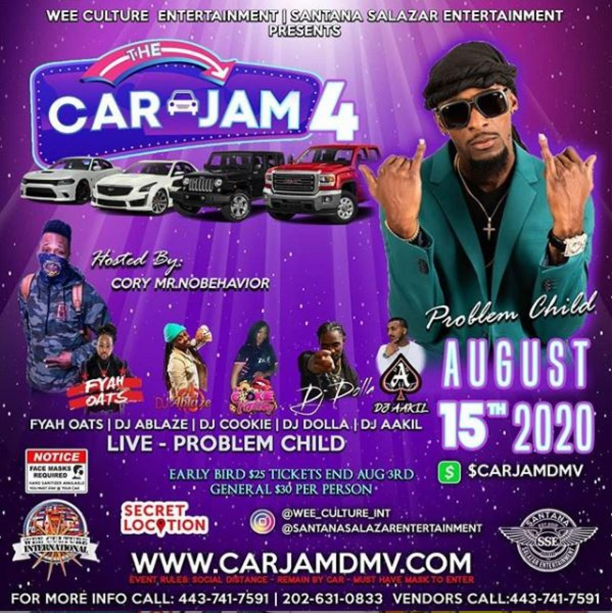 4th Edition Car Jam flyer or graphic.