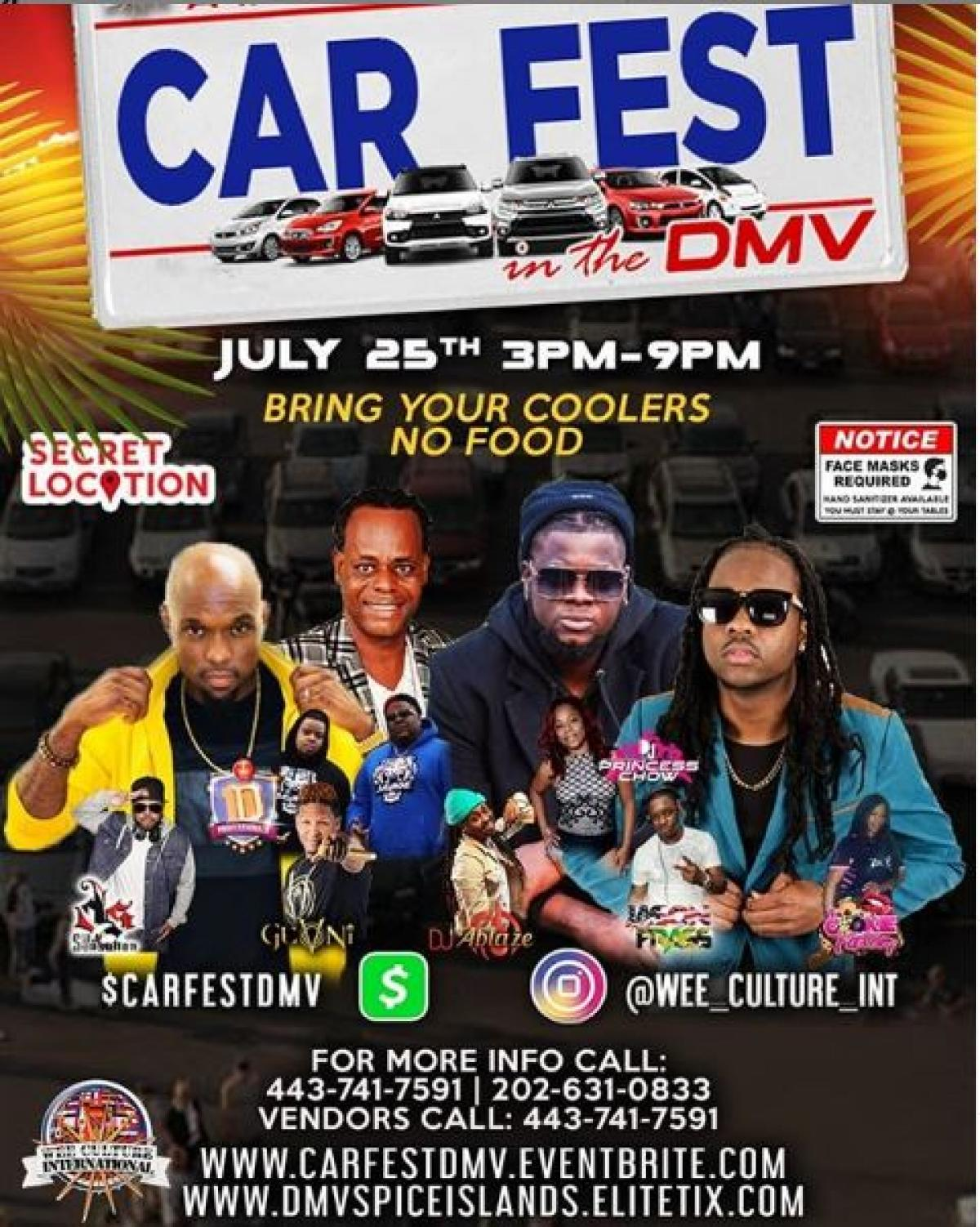 Car Fest In The DMV flyer or graphic.
