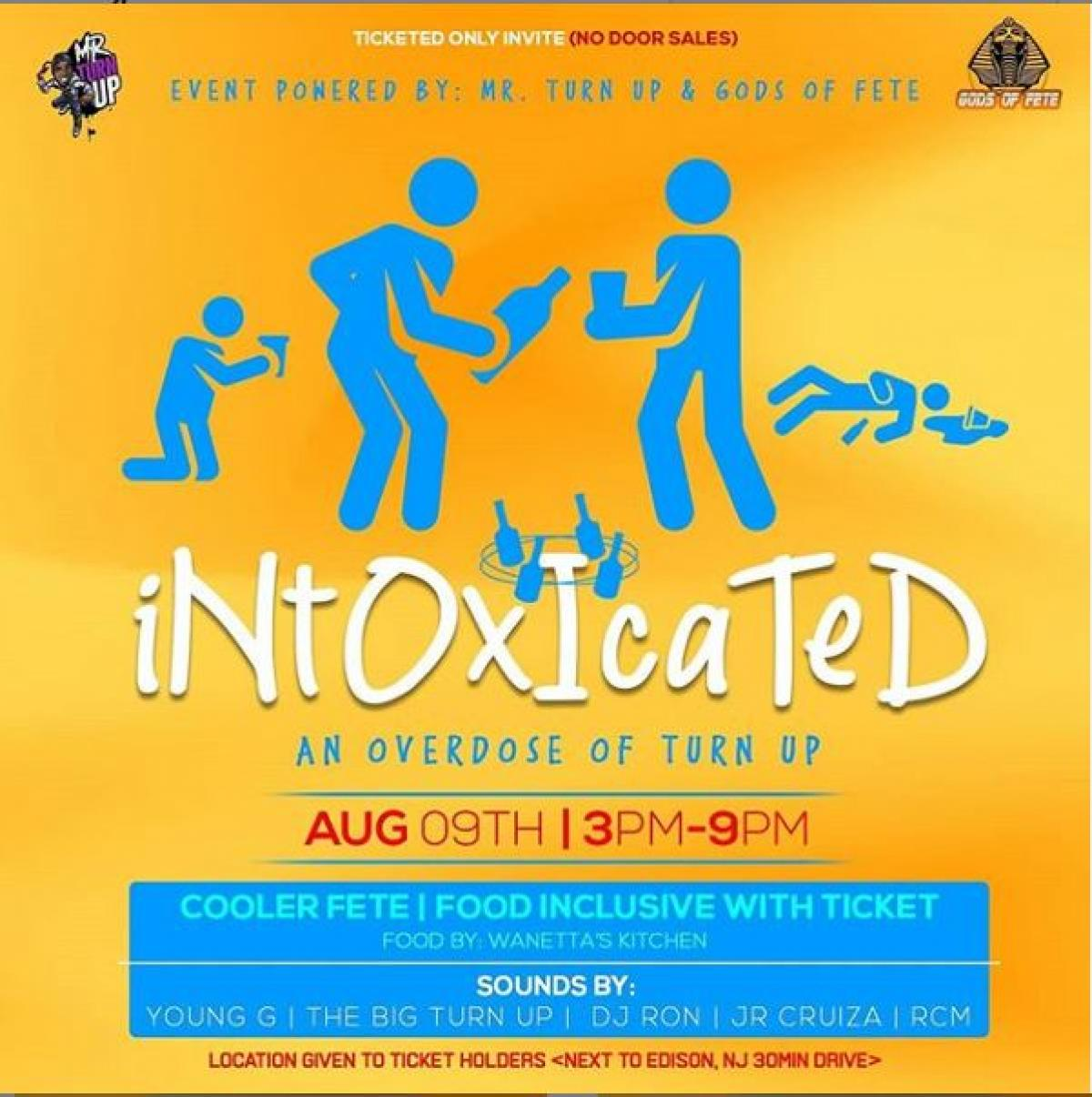 Intoxicated flyer or graphic.