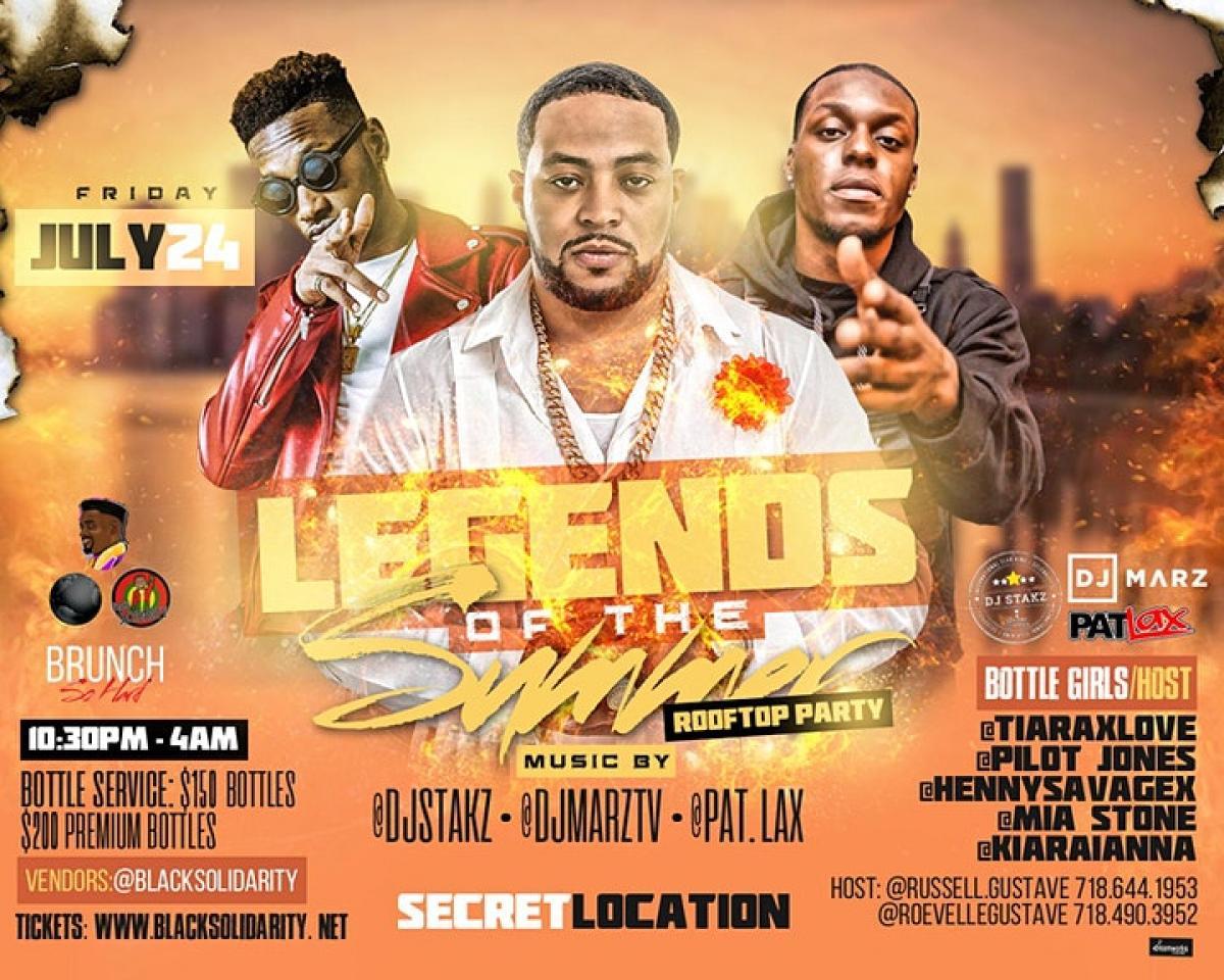Legends Of Summer flyer or graphic.