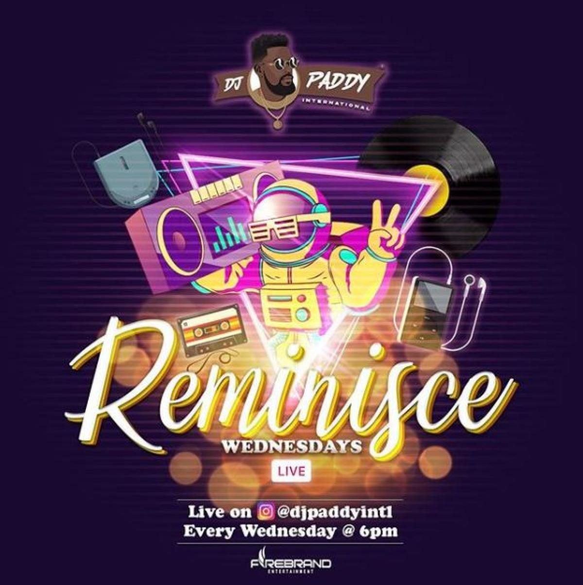 Reminisce Wednesdays flyer or graphic.